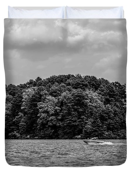 Relaxing On Lake Keowee In South Carolina Duvet Cover