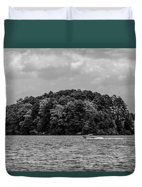Relaxing On Lake Keowee In South Carolina Duvet Cover