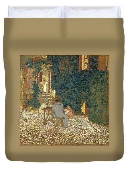 Repast In A Garden Duvet Cover