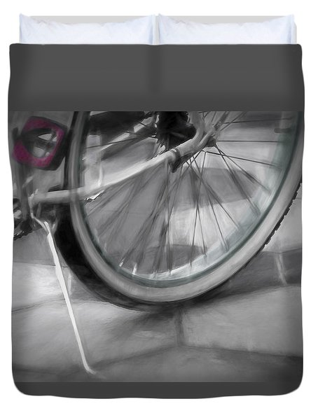 Ride With Me Duvet Cover by Carolyn Marshall