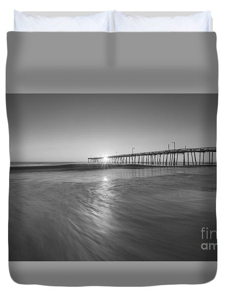 Rise And Shine At Nags Head Pier Duvet Cover