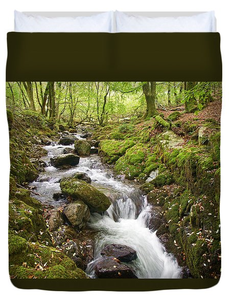 River Lyd On Dartmoor Duvet Cover