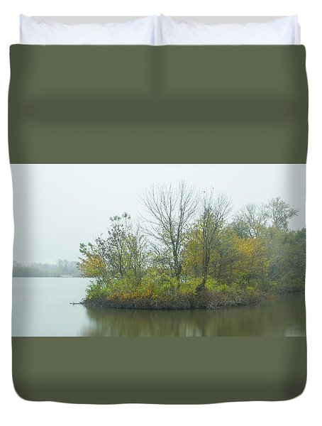 Riverlands On The Mississippi River Duvet Cover