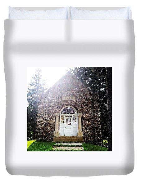 Riverside Cemetery Chapel Duvet Cover