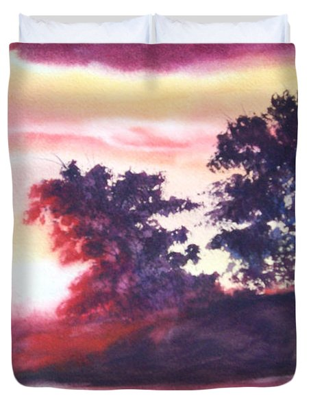 Road To Fargo Duvet Cover by Marilyn Jacobson