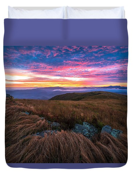 Roan Mountain Sunrise Duvet Cover by Serge Skiba