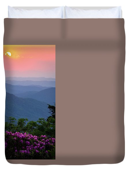 Roan Mountain Sunset Duvet Cover by Serge Skiba
