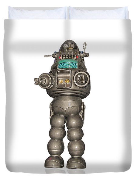 Robby The Robot Duvet Cover by Gary Warnimont