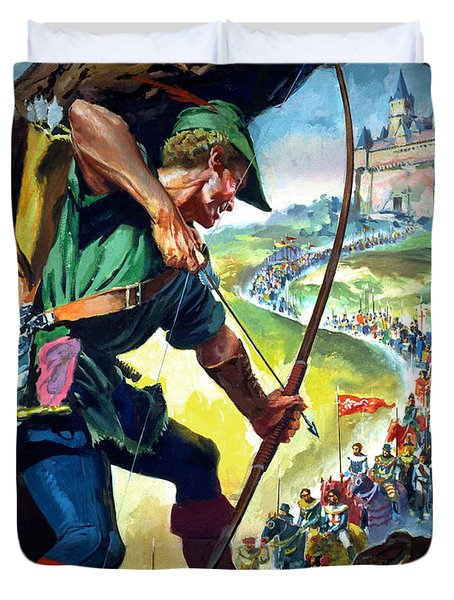 Robin Hood Duvet Cover by James Edwin McConnell