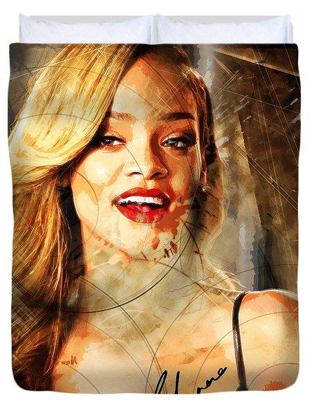 Robyn Rihanna Fenty - Rihanna Duvet Cover