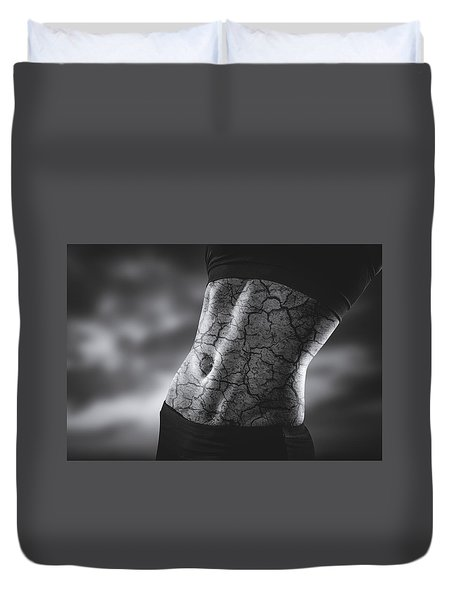 Rock Solid Abs Duvet Cover by Scott Meyer