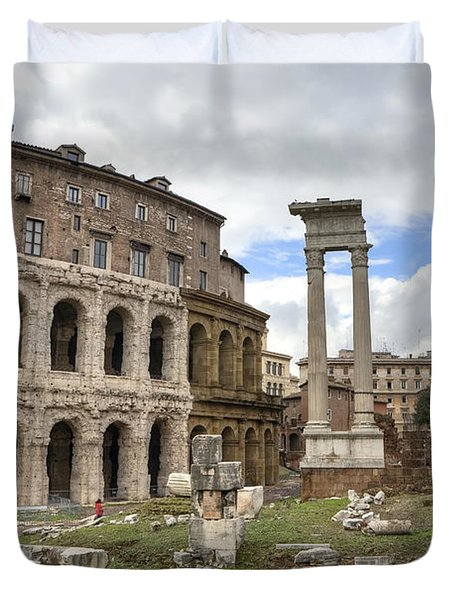Rome - Theatre Of Marcellus Duvet Cover by Joana Kruse