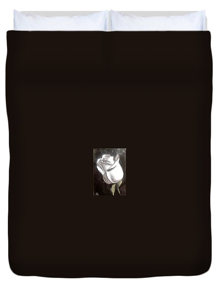 Duvet Cover featuring the painting Rose 2 by Natalia Tejera