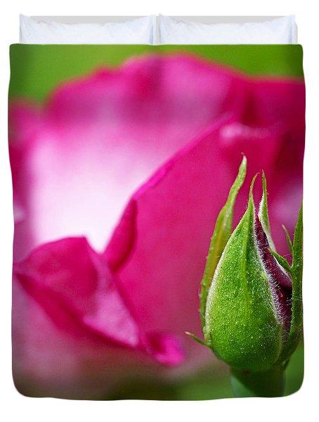 Budding Rose Duvet Cover
