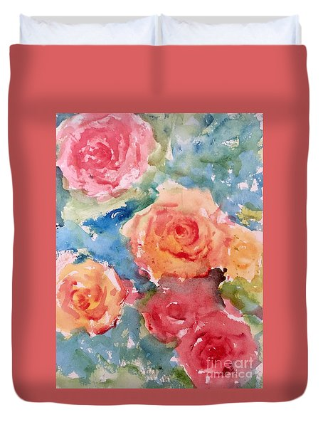 Roses Duvet Cover by Trilby Cole