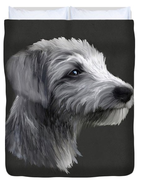 Rough Coated Lurcher  Duvet Cover