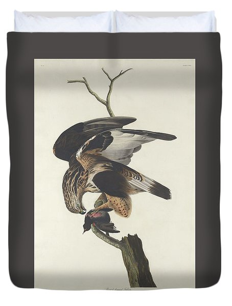 Rough Legged Falcon Duvet Cover by Rob Dreyer