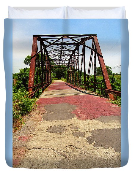 Route 66 - One Lane Bridge Duvet Cover