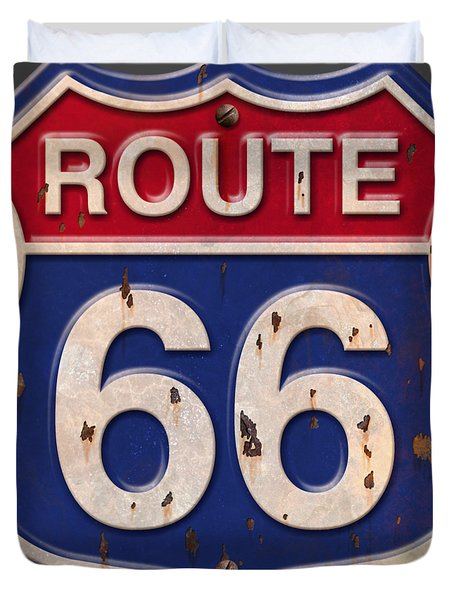 Route 66 Shirt Duvet Cover