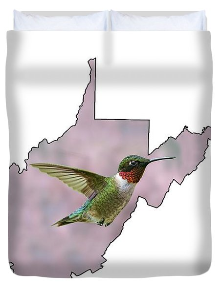 Ruby-throated Hummingbird  Beautiful Coloring Duvet Cover
