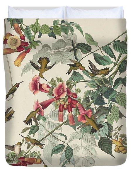 Ruby-throated Hummingbird Duvet Cover