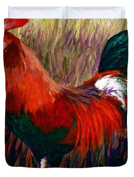 Rudy The Rooster Duvet Cover