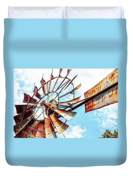 Rusted Windmill Duvet Cover