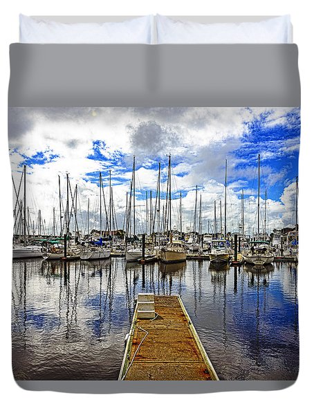 Duvet Cover featuring the photograph Safe Harbor by Anthony Baatz