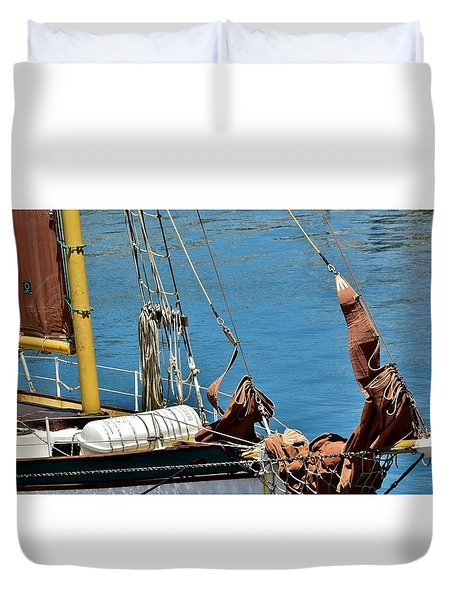 Duvet Cover featuring the photograph Sail Boat by Werner Lehmann