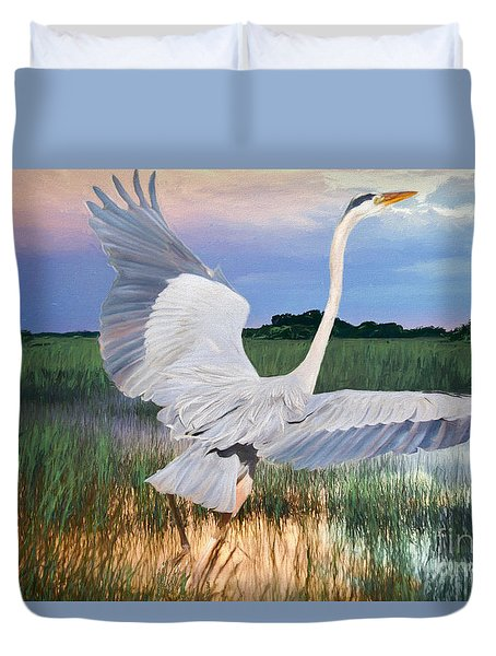 Sail Into Sunset Duvet Cover
