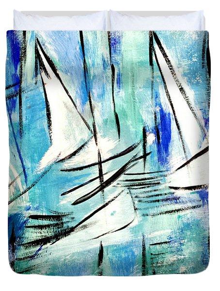 Sailing Blue Duvet Cover