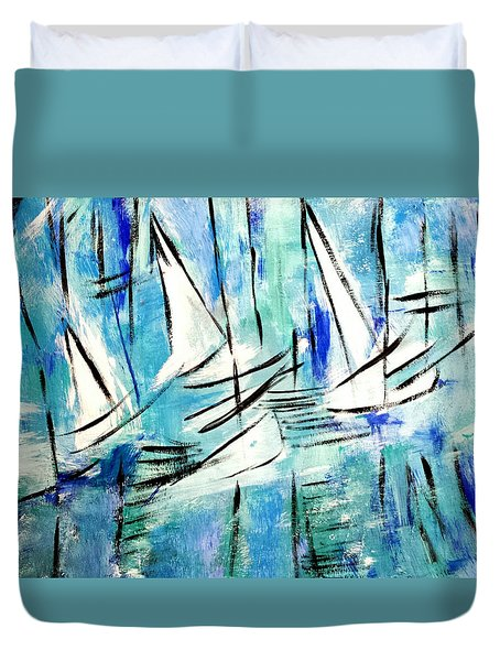 Sailing Blue Duvet Cover