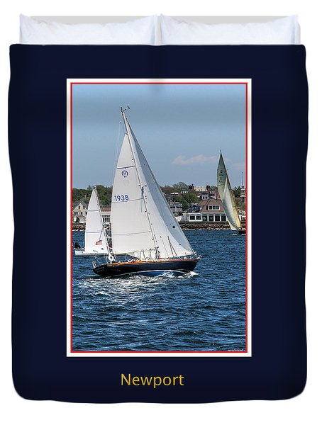 Sailing Newport Duvet Cover by Tom Prendergast