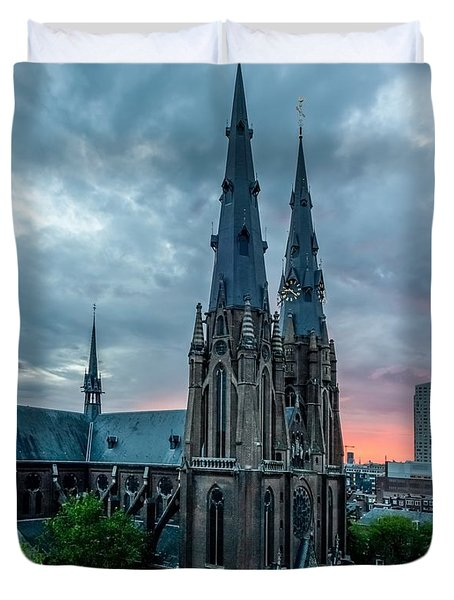 Saint Catherina Church In Eindhoven Duvet Cover