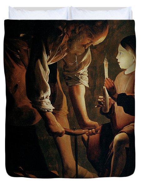 Saint Joseph The Carpenter  Duvet Cover