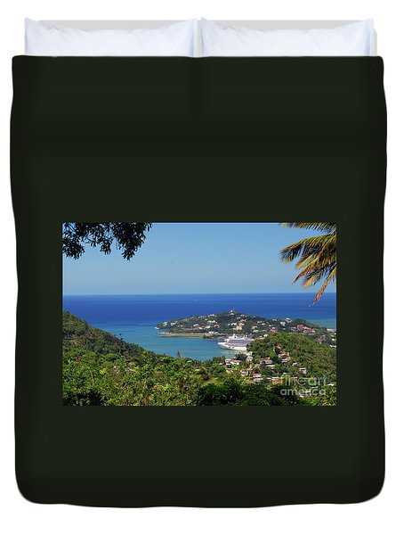 Duvet Cover featuring the photograph Saint Lucia by Gary Wonning