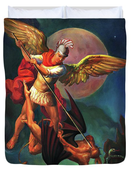 Saint Michael The Warrior Archangel Duvet Cover