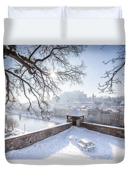 Salzburg Winter Dreams Duvet Cover by JR Photography