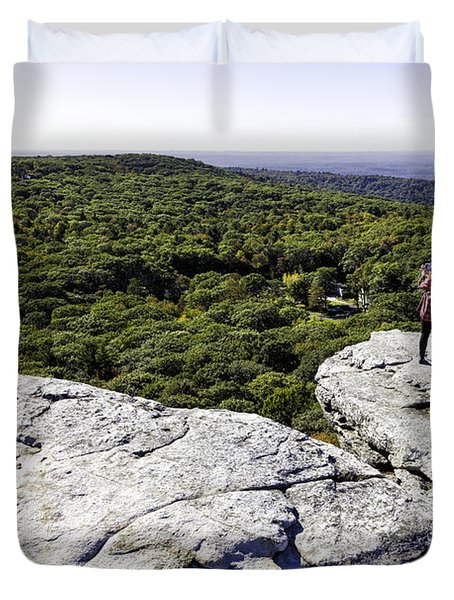 Sams Point Overlook Duvet Cover by Fran Gallogly
