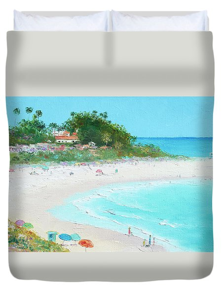 San Clemente Beach California Duvet Cover by Jan Matson