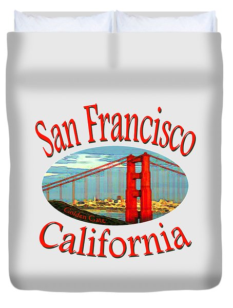 San Francisco California Design Duvet Cover
