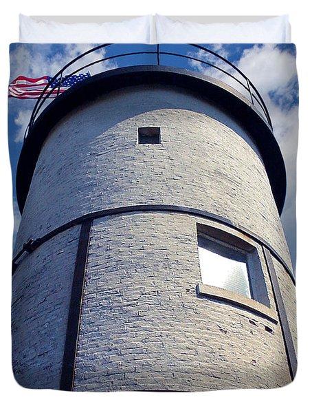 Sandy Neck Lighthouse Duvet Cover by Charles Harden