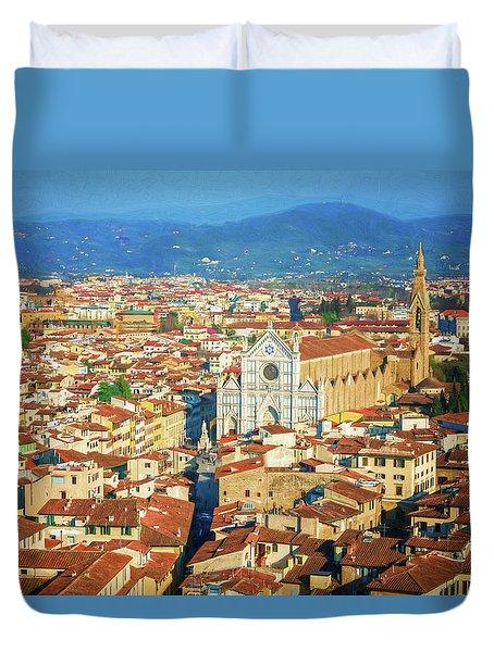 Santa Croce Florence Italy II Duvet Cover