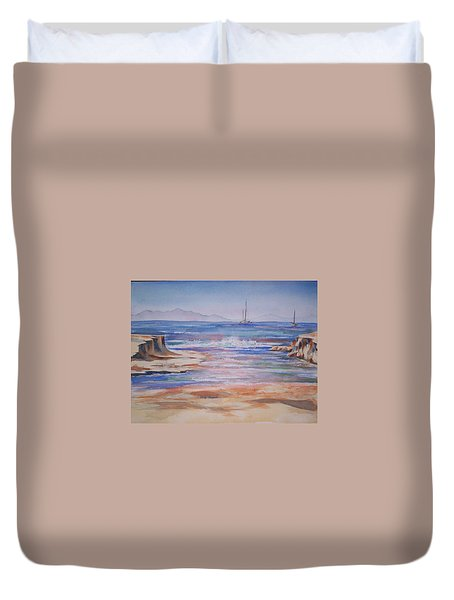 Santa Cruz Duvet Cover by Becky Chappell
