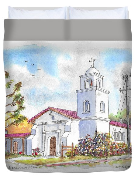 Santa Cruz Mission, Santa Cruz, California Duvet Cover