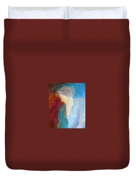 Sarah's Blue Suit Duvet Cover