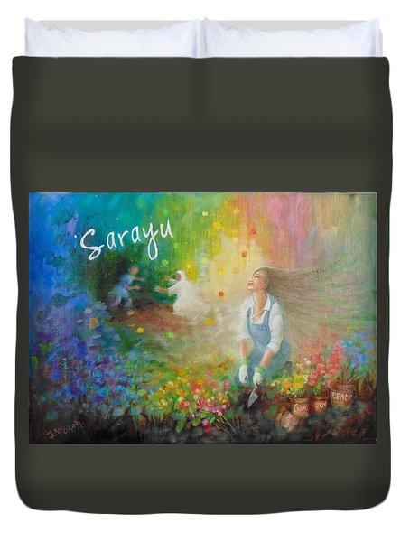 Sarayu Duvet Cover by Janet McGrath
