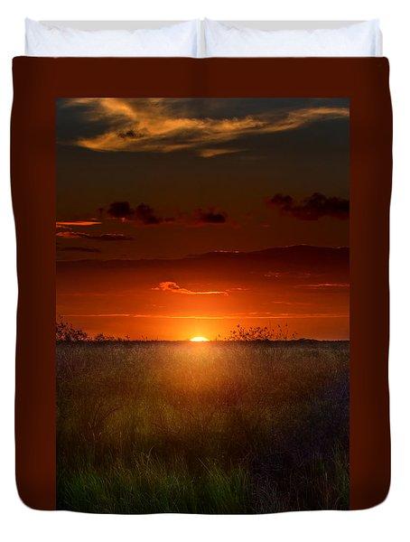 Sawgrass Sunset Duvet Cover by Mark Andrew Thomas