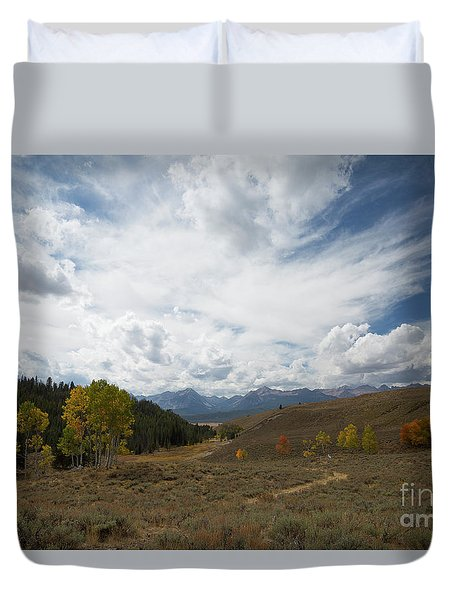 Sawtooth Skies Duvet Cover