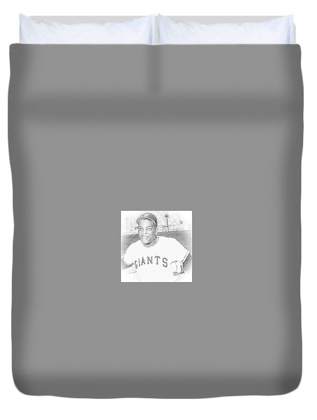 Willie Mays Duvet Cover